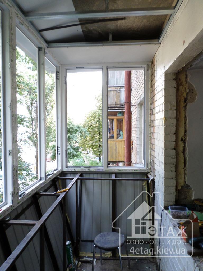 Вынос балкона косынка в киеве. вынос балкона от пола в киеве.