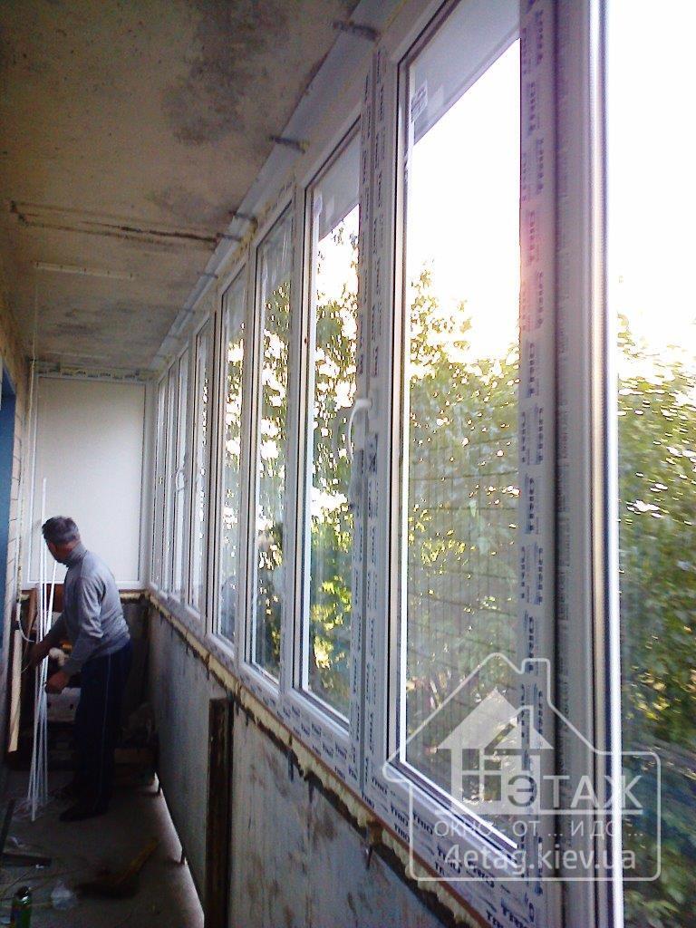 Остекление балкона борисполь. остекление балкона с выносом б.