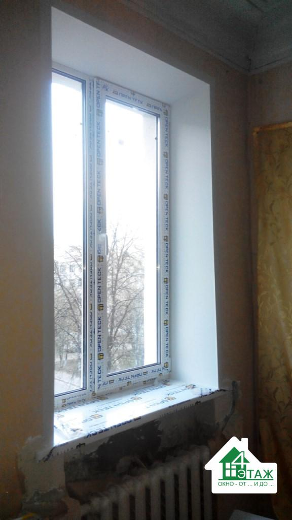 """Установка откосов, фотоработы компании """"4 этаж окно от и до"""""""