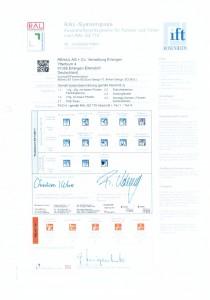 Сертификат соответствия REHAU Euro-Design (60, 70, 86), Brillant-Design, GENEO (Германия)