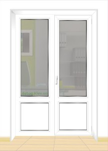 Стоимость балконной двери с поворотно-откидной частью