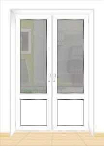 Стоимость двустворчатых балконных дверей