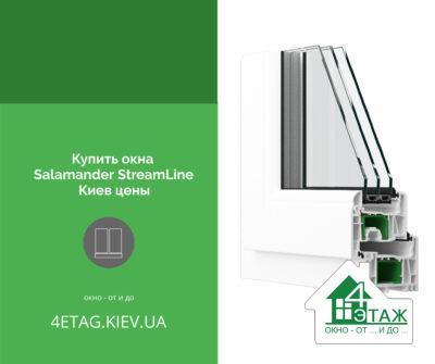Купить окна Salamander StreamLine Киев цены