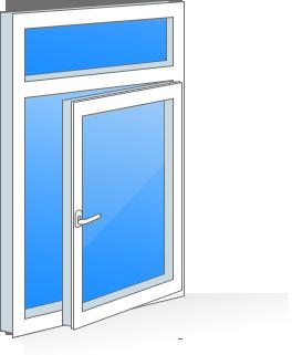 окно з фрамугой
