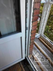 Выход на балкон в профиле WDS 400