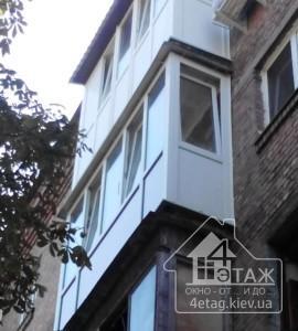 Французское остекление балкона Вышгород - компания