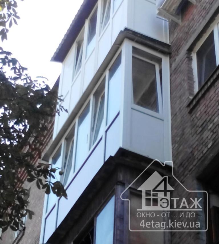 """""""4 этаж"""" Вариант остекление балкона"""