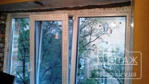 """Трехстворчатые окна Rehau 60 с одной створкой - компания """"4 этаж"""""""