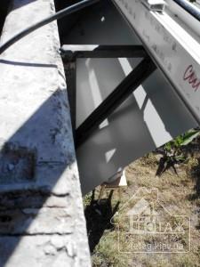 Остекление балкона Киев с выносом косынка от компании 4 этаж