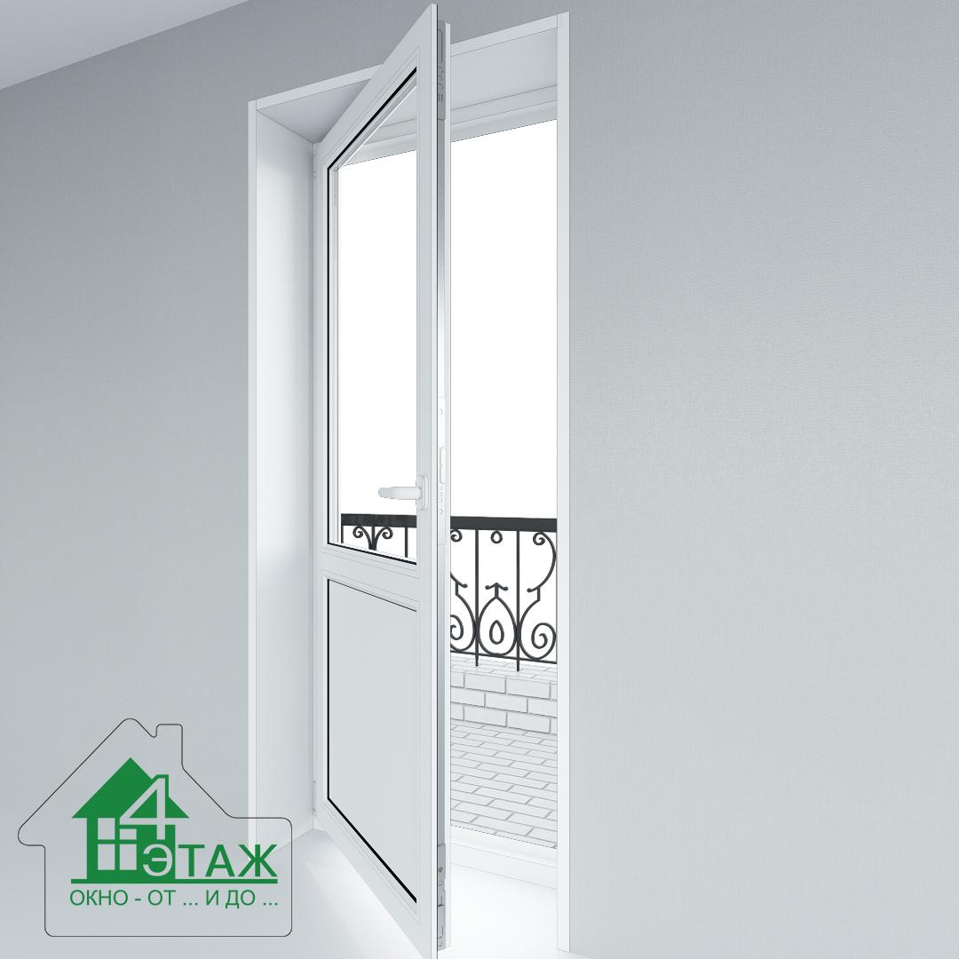 """Балконные двери одностворчатые от ТМ """"4 Этаж"""""""