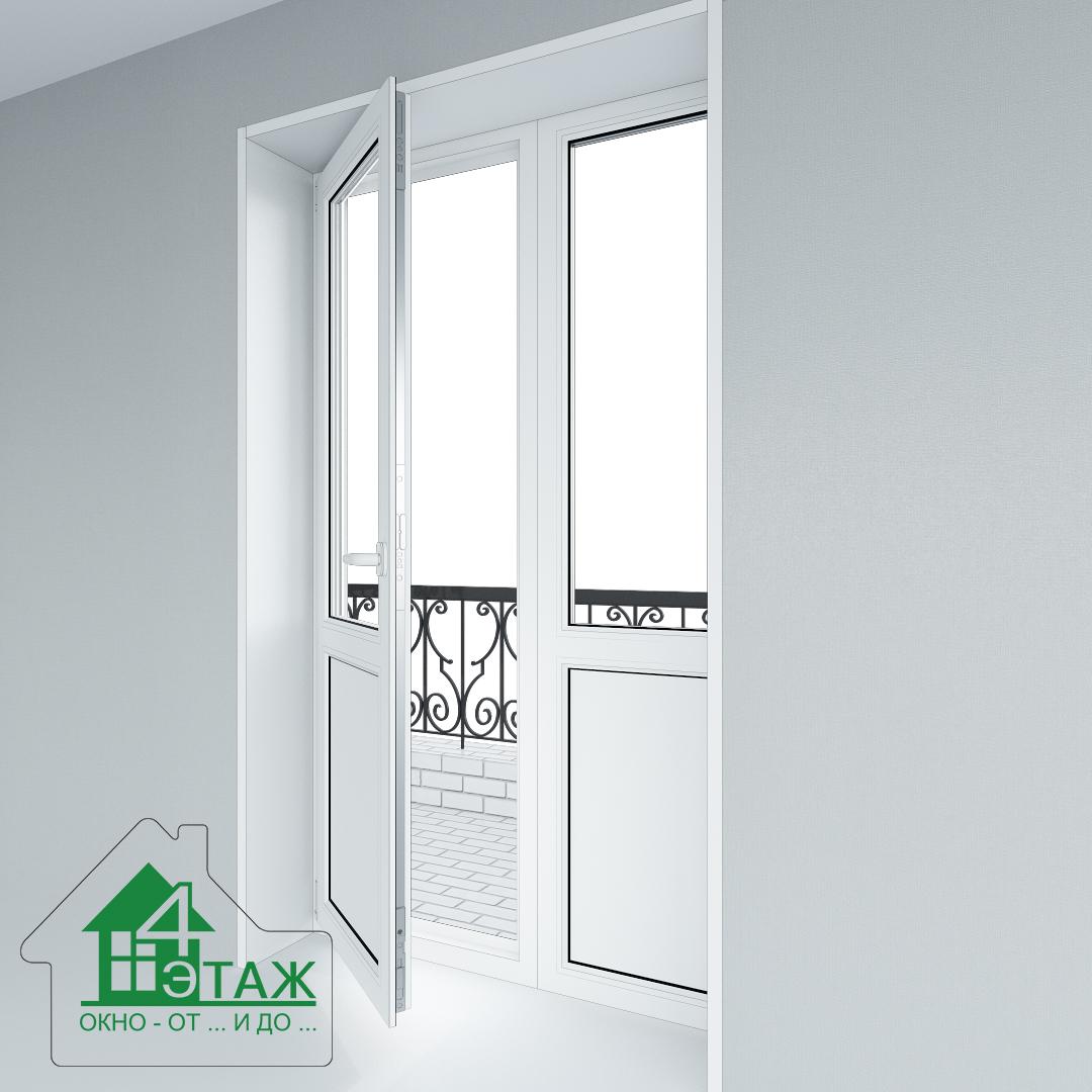 """Металлопластиковые балконные двери от ТМ """"4 Этаж"""""""