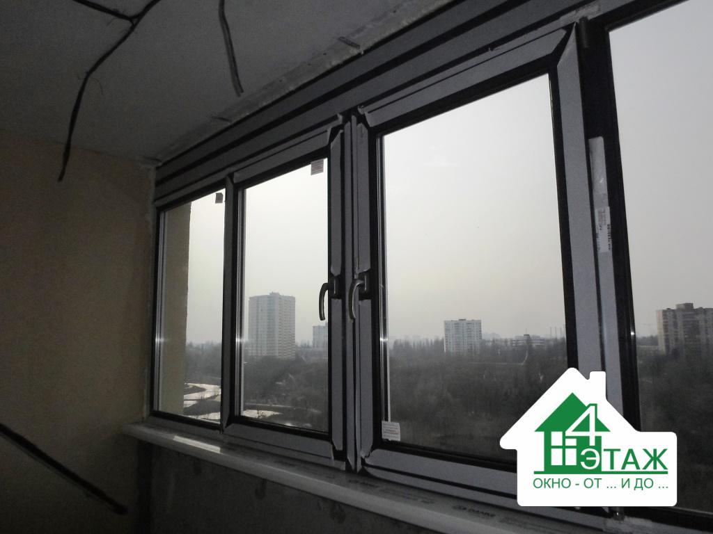 Ламинированные пластиковые окна Киев