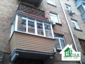 Металлопластиковые балконы в рассрочку Киев