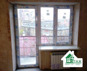 Установка балконного блока Veka