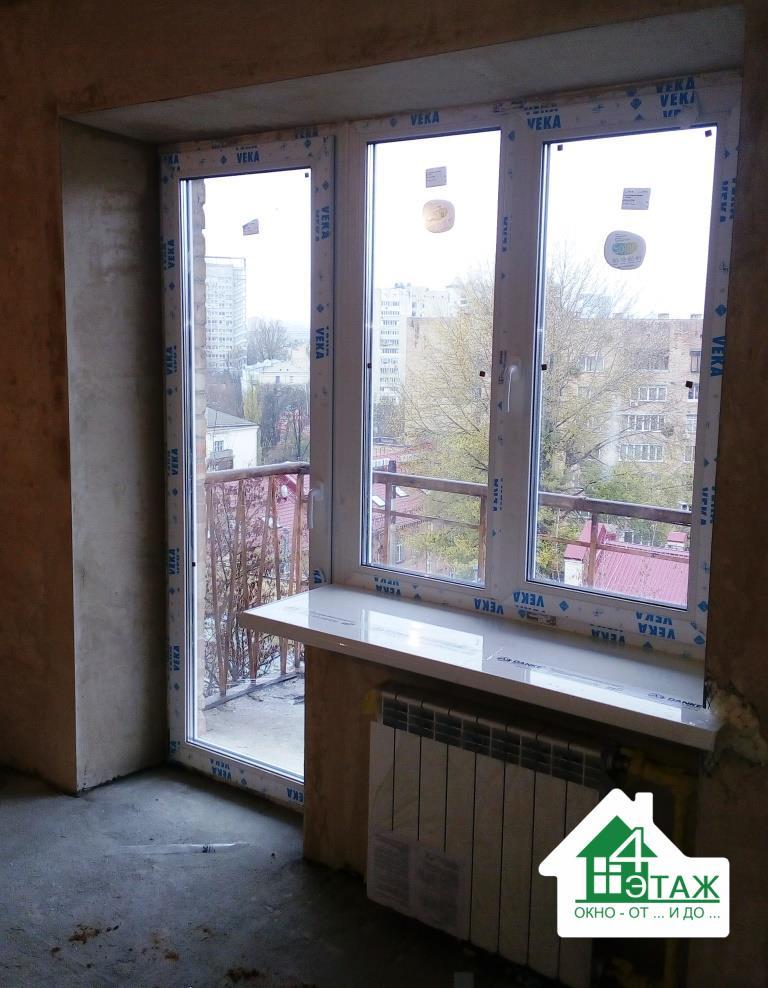 """Балконный блок VEKA, монтаж компании """"4 Этаж"""""""