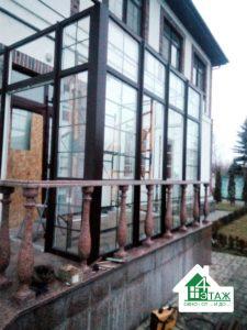 Нестандартные пластиковые окна - ламинированные