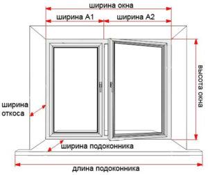 окна без установки - самостоятельный замер