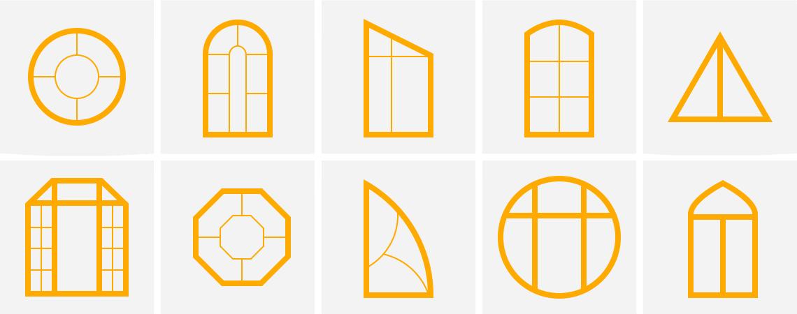 окна пвх нестандартной формы