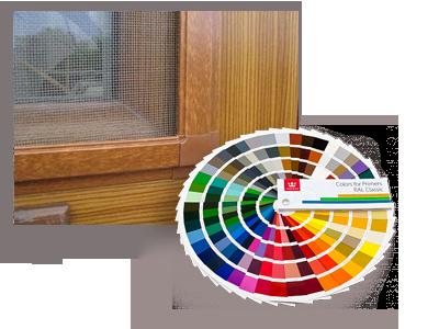 цветная москитная сетка на двери