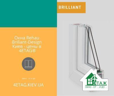 Окна Rehau Brillant-Design Киев - цены в4ETAG®