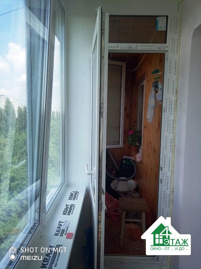 Остекление балкона чешка окнами Rehau - © 4 Этаж