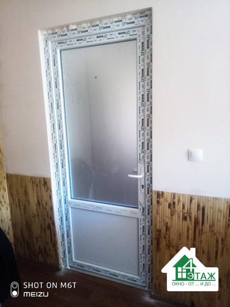 Пластиковые двери WDS 6S Киев ул. Пржевальского 1 - бригада 7