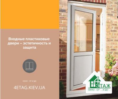 Входные пластиковые двери – эстетичность и защита