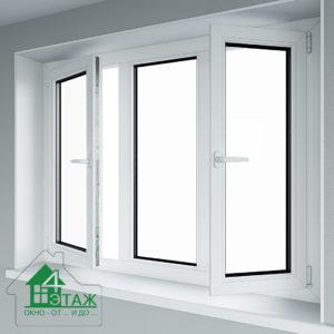 Окна EuroLine цены на трехстворчатое окно в ТМ