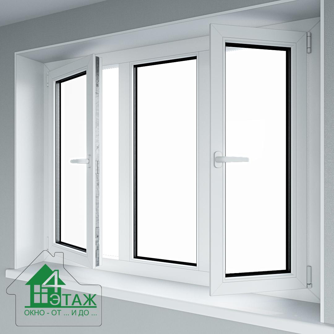 """Металлопластиковые окна KBE от фирмы """"4 Этаж"""""""