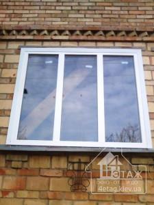 """Трехстворчатые окна без открываний - компания """"4 этаж"""""""