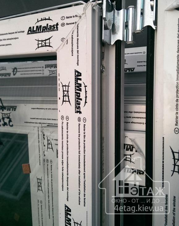 """Недорогие пластиковые окна ALMplast, оконная фирма """"4 этаж"""""""
