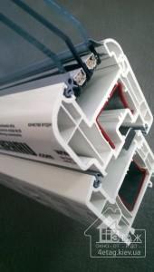 Тёплые окна Rehau BRILLANT-DESIGN - пяти камерная ПВХ система
