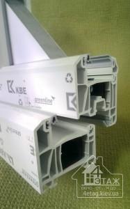 Технические характеристики пластиковых окон KBE 70mm Optima