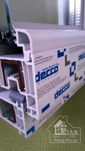 Энергосберегающие окна Киев, профиль Decco 70 - шесть воздушных камер!