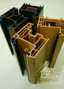 Металлопластиковые окна Rehau 70 ламинированные в массе