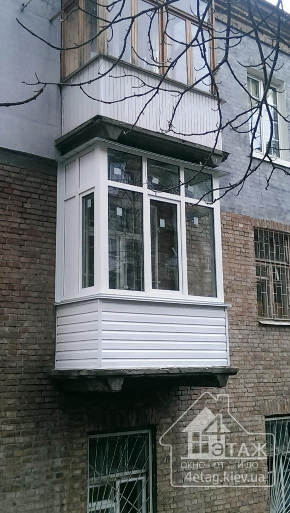 """""""4 этаж"""" Застекление балкона"""