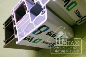 Три контура уплотнения в окнах WDS 8 series