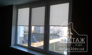 Тканевые жалюзи на окна пластиковые - широкий выбор цвета