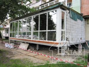 Качественное остекление французского балкона в Киеве