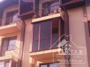Французское остекление балкона в Глевахе - оконная компания