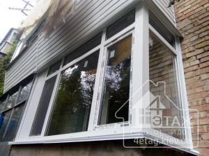 Доступные цены остекления балкона в Киеве от компании 4 этаж
