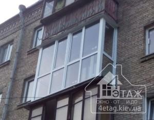 Французский балкон в Киеве практичное и оригинальное остекление