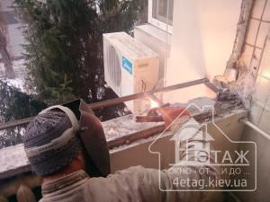 Остекление балкона с выносом в Вышгороде - оконная компания