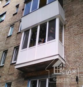 """Остекление балконов Буча в компании """"4 этаж"""""""