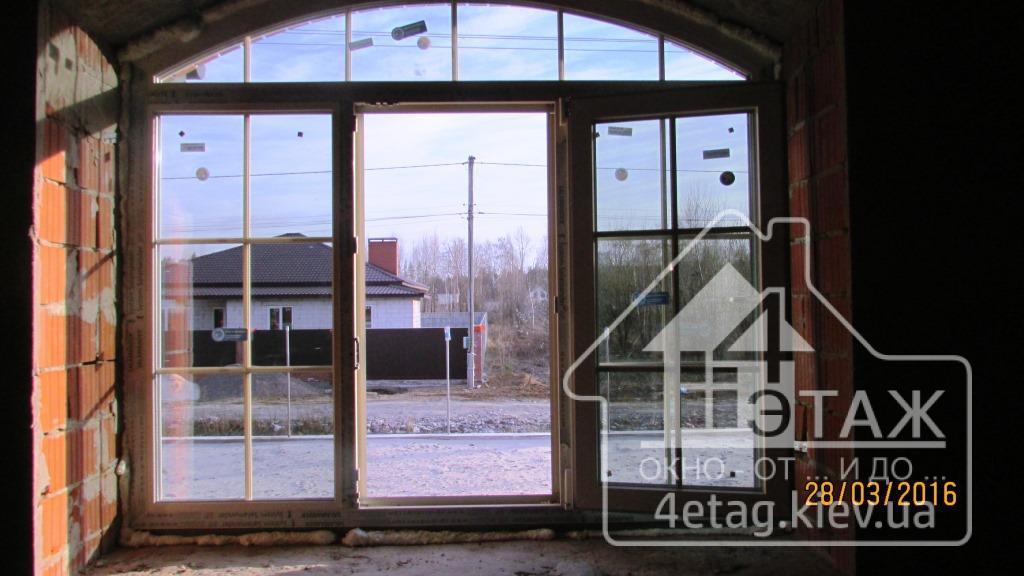 Арочные окна Salamander StreamLine, монтаж фирмы