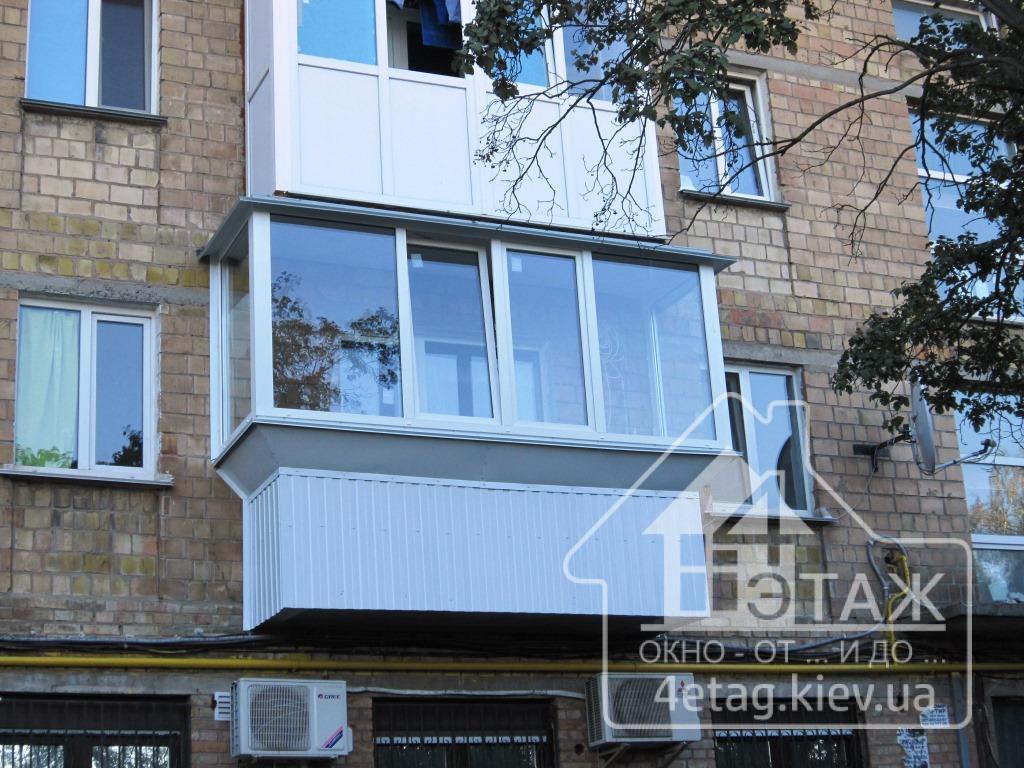 """""""4 этаж"""" Остекление балконов в Хрущевке"""