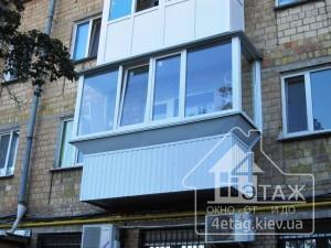 Плюсы остекление балконов в Киеве с выносом косынка