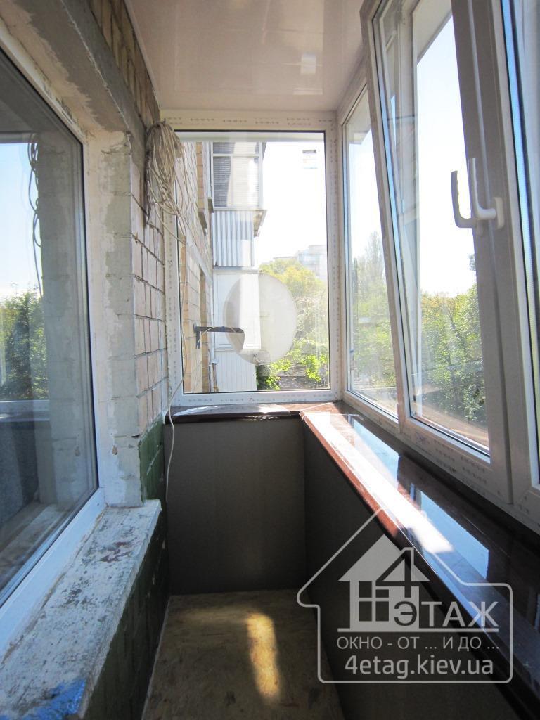 Остекление балкона хрущевка.