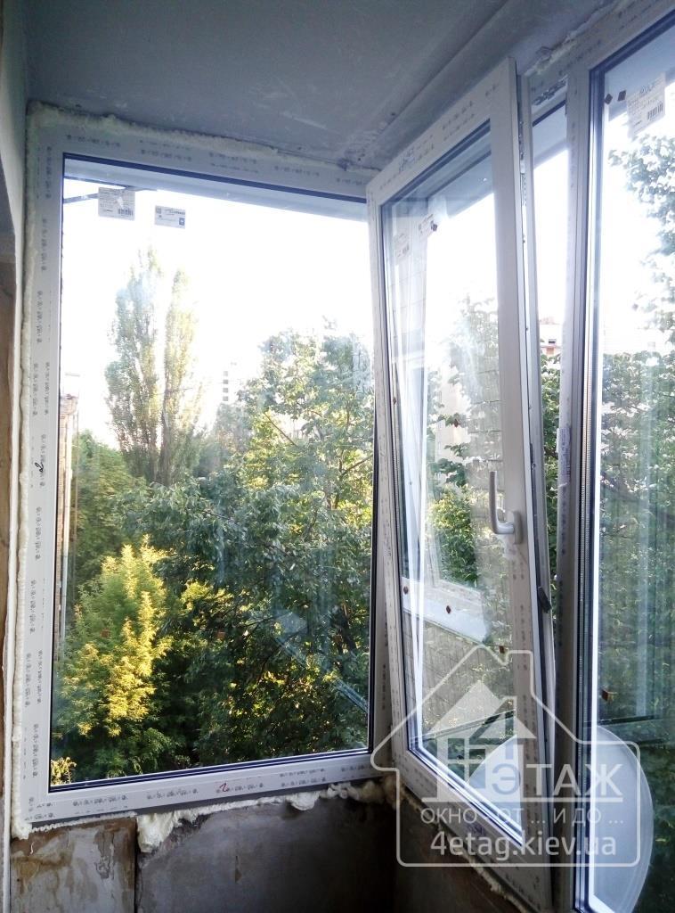 """Остекление балкона Чешка в киеве и пригороде от компании """"4 ."""
