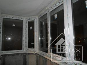 """Остекление балкона окнами WDS по улице Донца №2Б, ТМ """"4 этаж Окно От и До"""""""